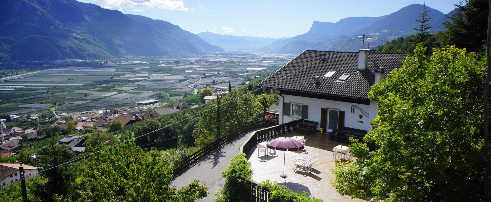terrazzo panoramico maso Schiessbichler